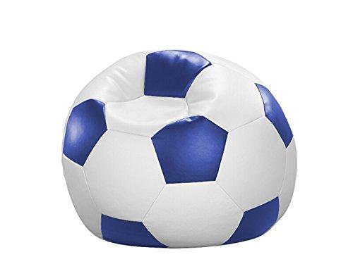 Cats Collection Fußball-Sitzball Kunstleder weiß/blau Ø 90 cm