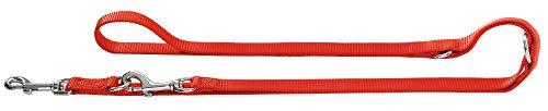 HUNTER Ecco Sport Verstellbare Führleine für Hunde, Nylon, robust, pflegeleicht, 1,5 x 200 cm, rot