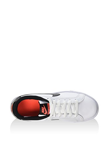 Nike Damen Wmns Court Royale Turnschuhe, White / Metallic Silver, media Blanco (White / Black-Total Crimson)