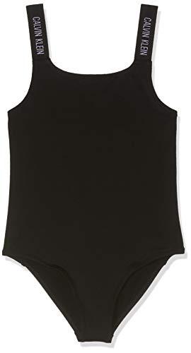 Calvin Klein Mädchen Swimsuit Badeanzug, Schwarz (Black 001), 164 (Herstellergröße: 14-16) -