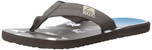 Reef Herren Ht Prints Zehentrenner Blau (BROWN/BLUE PALM WUP)