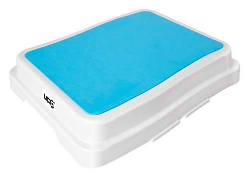 UPP 10 cm Badezimmer-Stufe stapelbar & erweiterbar | Belastbar bis 189 kg | Tritthocker für Senioren o. Kinder | Anti-Rutsch Trittstufe fürs Bad | Hocker für Badewanne & Dusche [1 Stk.] (Sicherheits-badewannen-trittstufen)