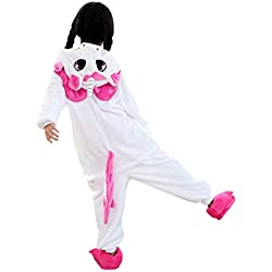 DarkCom Niños Pijama Enterizo Animal Cosplay Disfraces De Dibujos Animados Mono Dormir Unicornio Rosa