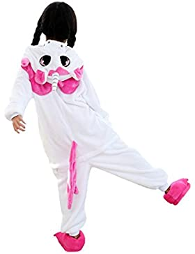 DarkCom Niños Kigurumi Pijama Enterizo Animal Cosplay Disfraces De Dibujos Animados Mono Dormir Unicornio