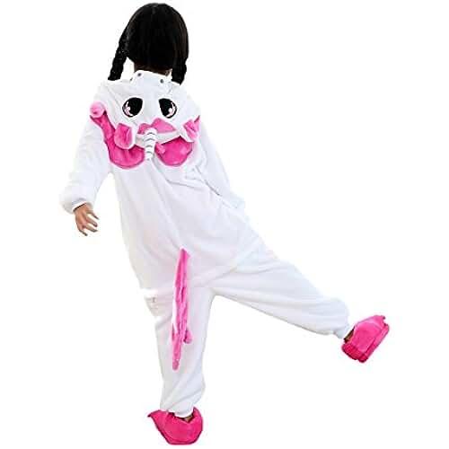 pijama de unicornio kawaii DarkCom Niños Kigurumi Pijama Enterizo Animal Cosplay Disfraces De Dibujos Animados Mono Dormir Unicornio