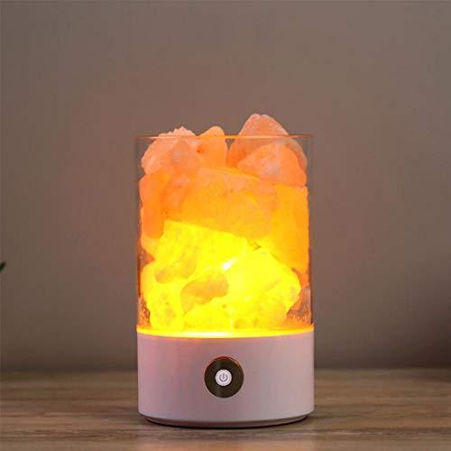 FOONEE Salzlampe, Himalaya-Salz-Lampe, natürliches Hymalain Pink Salt Rock Lamps, USB Himilian Sea Salt Crystal Night Light