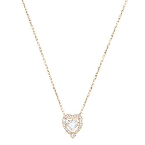 Swarovski Sparkling Dance Heart Halskette, weiss, rosé Vergoldung