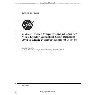 Inviscid Flow Computations of Two '07 Mars Lander Aeroshell Configurations Over a Mach Number Range of 2 to 24