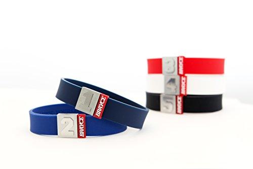 BRAYCE Sport & Fitness Armband mit Deiner Nummer 00-99 (Trikotnummer, Glückszahl) in allen Farben: Der Schmuck für's Training & den Alltag (kein Fitnesstracker,...