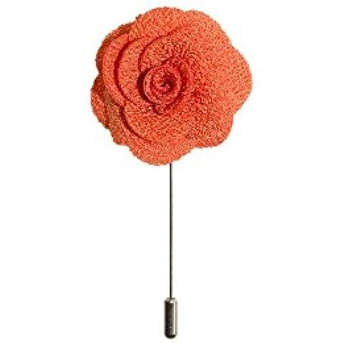 Spilla pin perno del risvolto a fiori – in diversi colori – in 100% seta by VON FLOERKE
