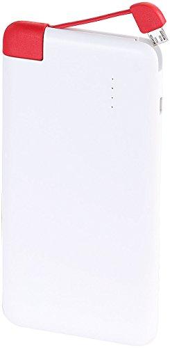 revolt Powerbank Kreditkarte: Ultra-Slim Powerbank mit integriertem Micro-USB-Ladekabel, 5.000mAh (Ultraslim-Powerbank)