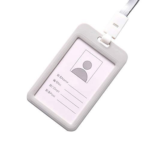 Halloween-Ausweishalter, tragbar, bunt, Kunststoff, für Personalausweis, Namensschild, Umhängeband (hellblau), grau, Einheitsgröße