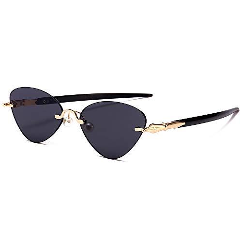 PL-IMK Randlose Gerade Beine Cat Eye Sonnenbrille