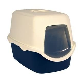 Trixie Cat Litter Tray Vico 40x40x56 Coral Red/White 7