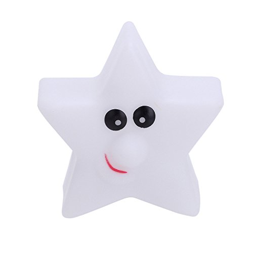 Pinzhi - Estrella Lampara Noche Luz del LED Infantil Nocturna para Dormir Habitación Iluminación 7 Colores Fiesta de Navidad