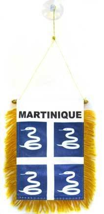AZ FLAG Fanion Martinique 15x10cm - Mini Drapeau martiniquais - France 10 x 15 cm spécial Voiture - Bannière