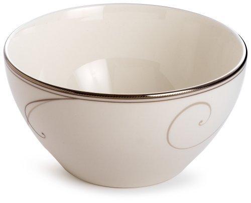 Noritake Platinum Wave Rice Bowl by Noritake Wave Rice Bowl