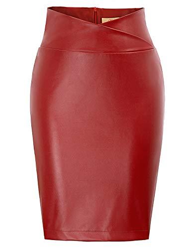 Grace karin dress a tubino con cerniera indietro gonne elegante gonna per cerimonia lavoro cocktail rosso m decl0005-2