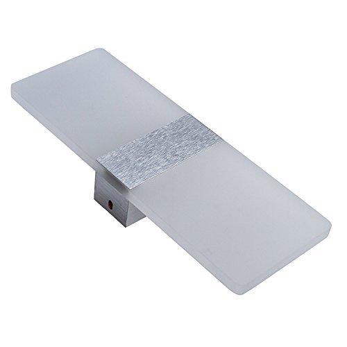 Lightess 6W LED-Wandleuchten Innen aus Aluminium Kreative minimalistische für Wohnzimmer,Schlafzimmer,Arbeitszimmer,Hotel,Flur,LED-Acrylwandlampe,Kaltes Weiß