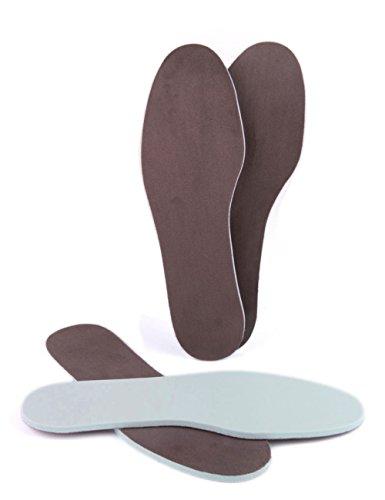 Die Schuhanzieher 2 Paar Memory Einlegesohlen Sohlen - Extra Weich für Entspanntes Laufen z2476(36-37) (Memory-schaum Dicke)