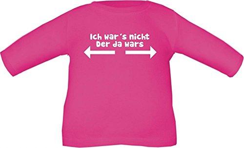 Baby / Kinder T-Shirt langarm mit Druck Ich war´s nicht / Größe 60 - 152 in 6 Farben Fuchsia