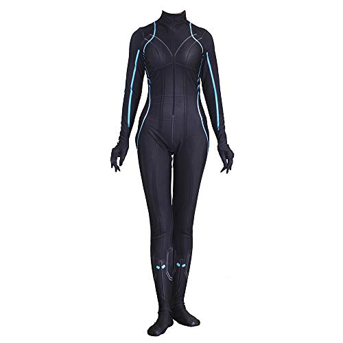 Hope Rächer: Schwarze Witwe Kostüm Erwachsene siamesische Strumpfhosen Cosplay Party Outfit Dress up Engen Body Halloween Kleidung Strampler,Black-L(160~165 cm)