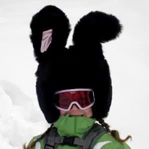 Couverture Lapin Casque de Ski avec des Grand Oreilles