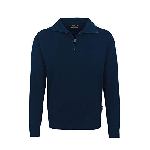 Hakro Zip Sweatshirt Premium, marine, M
