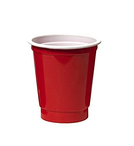 Party Essentials Soft Plastic 2-Ounce Party Cup Shot Glasses, 40-Count, Red by Party Essentials