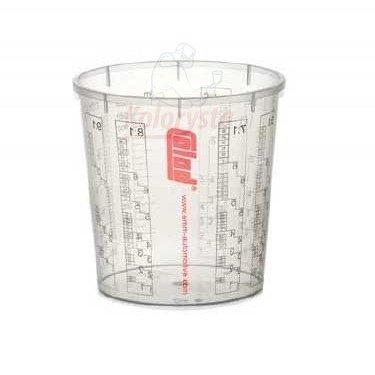 Preisvergleich Produktbild 10x COLAD Mischbecher mit Maßstab 2300 ml LACK FÜLLER - Becher ohne Deckel