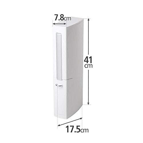 QiXian Badezimmer-Wc-Bürstenhalter-Set Toilettenbürste Wc-Toilette Einteiliges Set Wc-Lücke Reinigungsbürste Stark Robust, Weiß, 17,5 * 7,8 * 41CM