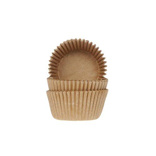 60 Mini Muffinförmchen, Natur (ungebleicht) (Halloween Mini-cupcake-ideen Für)