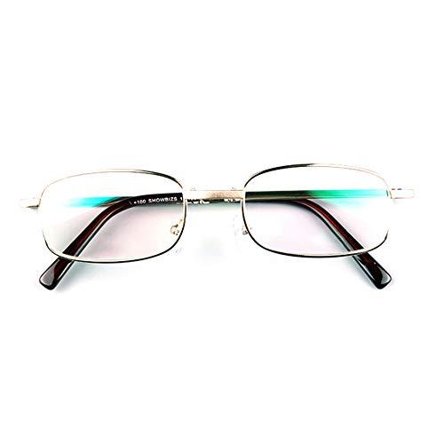 Zusammenklappbare Lesebrille, altmodische Brille, Rahmen aus Nickel-Kupfer-Legierung, Kunstharzlinsen, Anti-Augen-Ermüdung/Anti-Kratzer