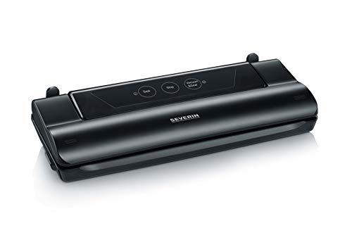 Severin FS 3610 Macchina per confezionamento sottovuoto, aspirazione e sigillatura Automatica, taglierina Integrata, compatta, 110 W, Nero