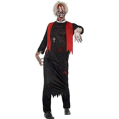 Tdhappy Halloween - Kostüme Horror Verlust Vampir Nonnen Priester Cosplay Pfarrer,Männliche (Männliche Vampir Kostüm)