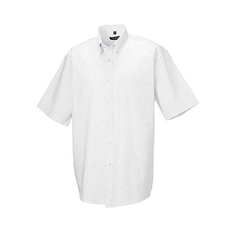 Russell - camicia classica manica corta - uomo (collo 49cm, petto 122-127cm) (bianco)