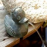Wasserspeier Ente Daisy, Teichfigur aus Bronze
