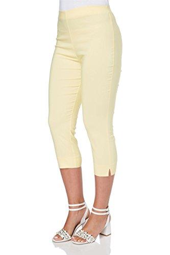 Roman Originals Damen Bengalin-Knöchelhose aus Stretch-Material - Damen mittellange Capri-Pull-on-Hosen - Sommer, Urlaub, tagsüber, Knöchelhose- 40 Farben,Gelb,38 (10)