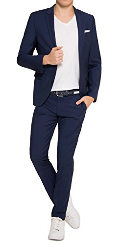 Michaelax-Fashion-Trade -  Abito  - Basic - Maniche lunghe  - Uomo Blu Royal