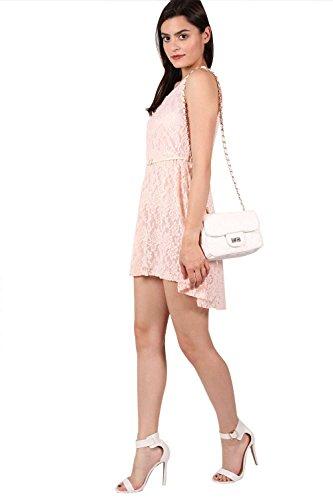 PILOT® mimi robe de patineuse en dentelle sans manches flottant avec ceinture Rose