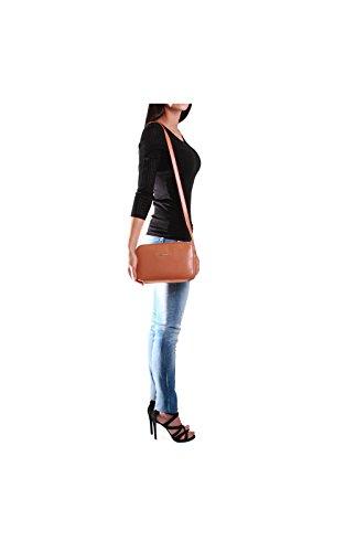 Trussardi Jeans Levanto Borsa a Tracolla, 25 cm, Nero Cuoio