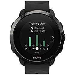 Suunto SS050020000 3 Fitness - Reloj Multisport con pulsómetro incorporado y la función de conectividad GPS de la aplicación Suunto, Unisex, Adulto, Negro, Talla Única
