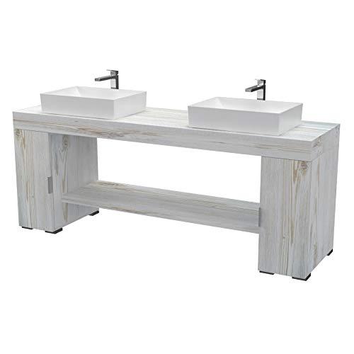 Ve.ca-italy sol - mobile completo arredo bagno, design in diverse finiture e combinazioni design 100% made in italy (shabby chic)