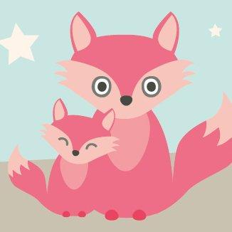 anna wand Bordüre selbstklebend LITTLE WOOD - Wandbordüre Kinderzimmer / Babyzimmer mit niedlichen Waldtieren in versch. Farben - Wandtattoo...