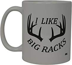 UUGOD Funny Coffee Mug Hunting I Like Big Racks Buck Hunter Novelty Cup Gift For Friend Hunt Mug Rack