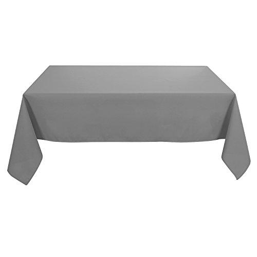 Deconovo Tischdecke Wasserabweisend Tischwäsche 130x220 cm Grau