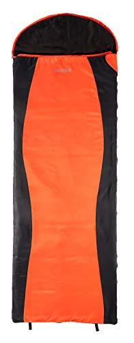 CampAir Saco de Dormir Ultra Ligero con Bolsa de Compresión, 220 x 75 x 75 cm, 210T Diamond-Ripstop (Rojo)