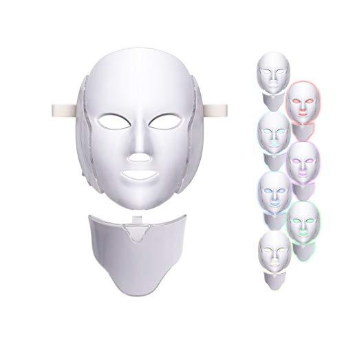 7 Lichttherapie-Gesichtspflege-Maske der Farben-LED, Gesichtslicht-Haut-Verjüngungs-Gesichtsmasken-Sorgfalt-Behandlungs-Schönheit - Beine Plus Kit