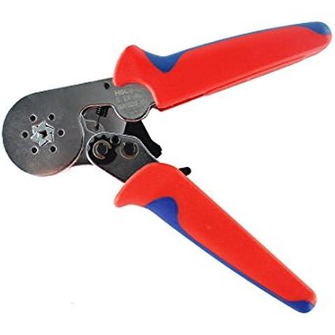 kinee Self Regolazione pinza crimpatrice pinza per crimpare a cricchetto, 0,25–6,0mm2Square ghiera Crimper