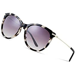 Elegear Gafas de Sol Mujer Retro Gafas vintage Redondas 100% Protección UV400 UVA Gafas Verano 2018 Ultraligero Cómodo-Gafas Leopardo 04